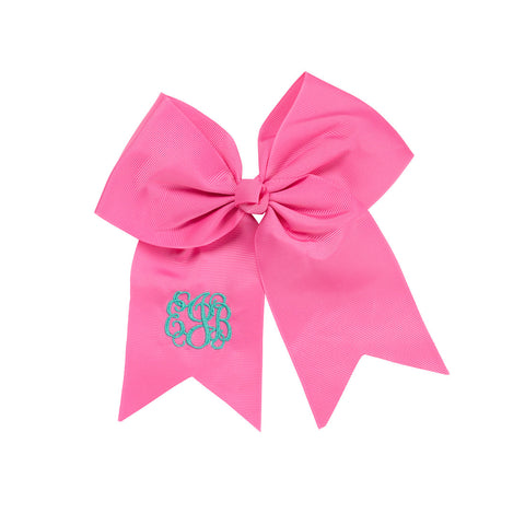 Hot Pink Monogram Hair Bow