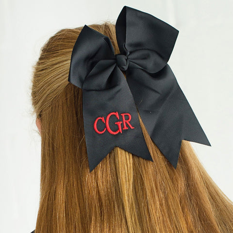 Black Hair Bow-Hair Accessory-PinkandLulu.com