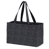 Black Scattered Dot Ultimate Tote-Totes-PinkandLulu.com