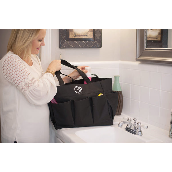 Black Carry All Bag-Tote-PinkandLulu.com