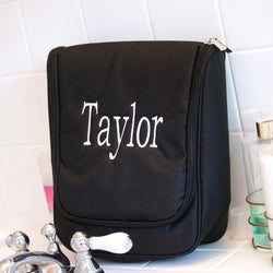 Black Hanging Travel Case-Travel-PinkandLulu.com