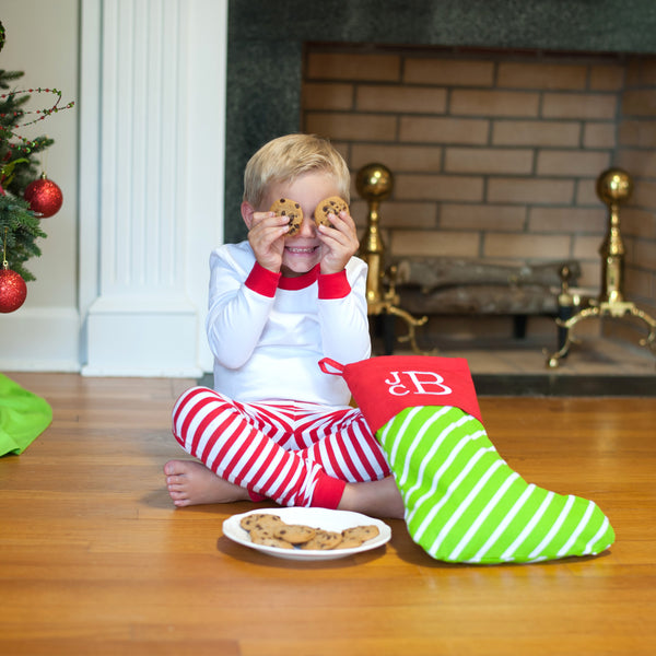 Bright Stripe Stocking-Christmas Stocking-PinkandLulu.com