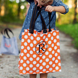 orange dot halloween tote