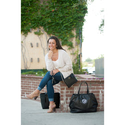 Black Cambridge Travel Bag-Travel-PinkandLulu.com