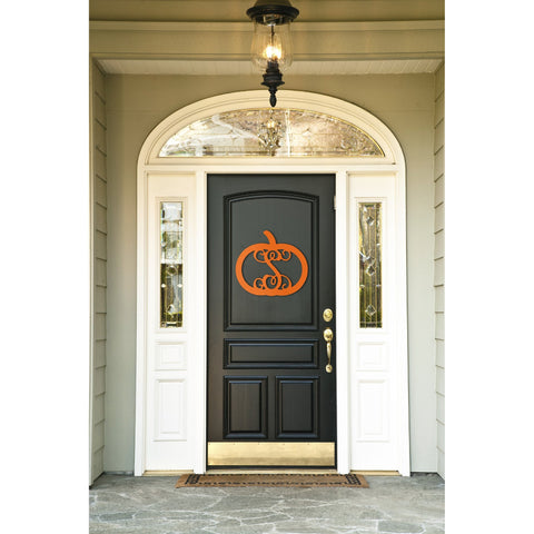 Pumpkin Wood Monogram-Home Goods-PinkandLulu.com