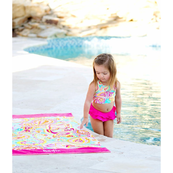 summer paisley girls swimsuit