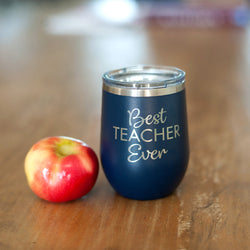 Best Teacher Ever 12 Oz Tumbler-Tumbler-PinkandLulu.com