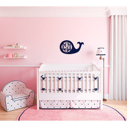 Whale Wood Monogram-Home Goods-PinkandLulu.com