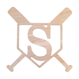 Baseball Wood Monogram-Home Goods-PinkandLulu.com