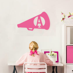 Cheer Megaphone Wood Monogram-Home Goods-PinkandLulu.com