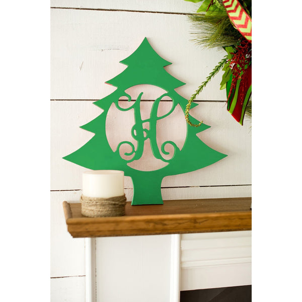 Christmas Tree Wood Monogram-Home Goods-PinkandLulu.com