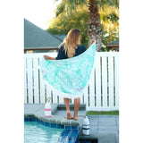 Pool Side Sand Circle-Beach Towel-PinkandLulu.com