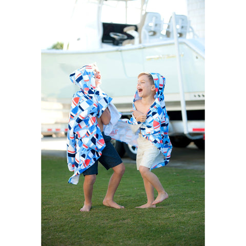 Oh Buoy Kids' Hooded Towel-Beach Towel-PinkandLulu.com