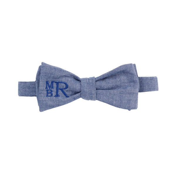 monogram Chambray Bow Tie