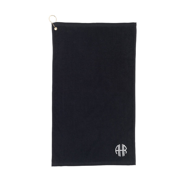 black golf towel
