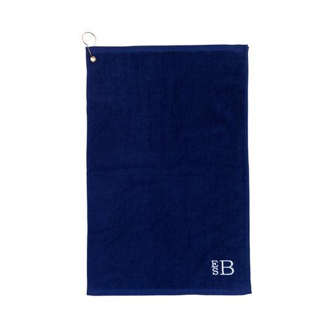 navy golf towel