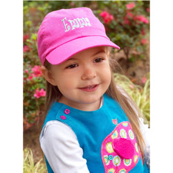 Hot Pink Kids Baseball Hat-Hat-PinkandLulu.com
