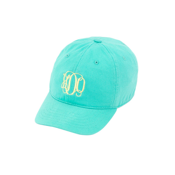 monogram mint kids hat