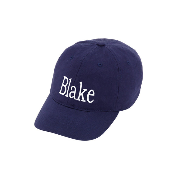 monogram navy KIDS hat