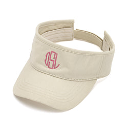 natural twill visor