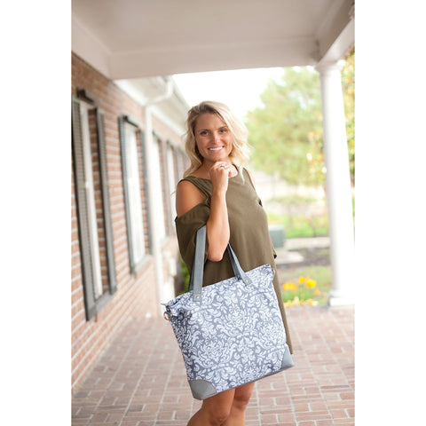 Ella Grey Shoulder Bag-Totes-PinkandLulu.com