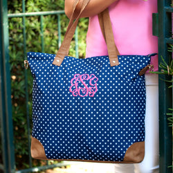 Charlie Dot Shoulder Bag-Totes-PinkandLulu.com
