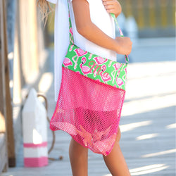 Flamingle Shell Tote-Totes-PinkandLulu.com
