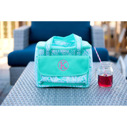 Poolside Palm Cooler Bag-Cooler-PinkandLulu.com