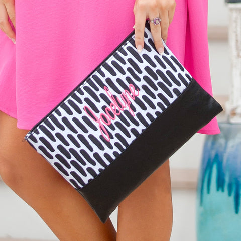 Carolina Night Zip Pouch-Accessory-PinkandLulu.com