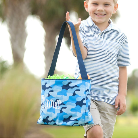 Cool Blue Camo Easter Bucket