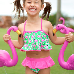 Flamingle Girls Swimsuit-Swim Wear-PinkandLulu.com