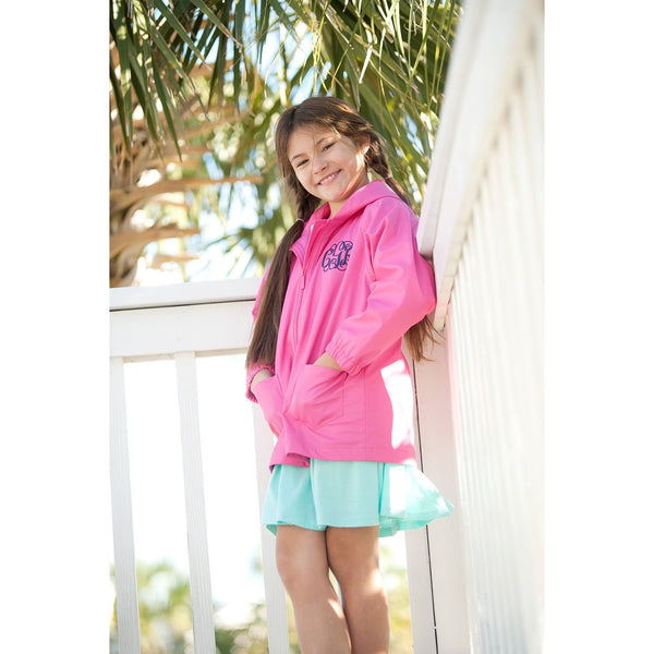 Kids' Hot Pink Rain Jacket-Apparel-PinkandLulu.com