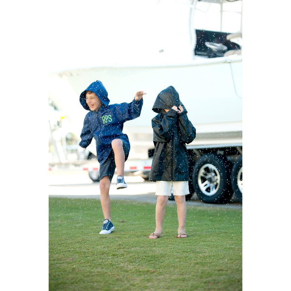 Kids' Navy Rain Jacket-Apparel-PinkandLulu.com