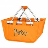 Mini Orange Market Tote