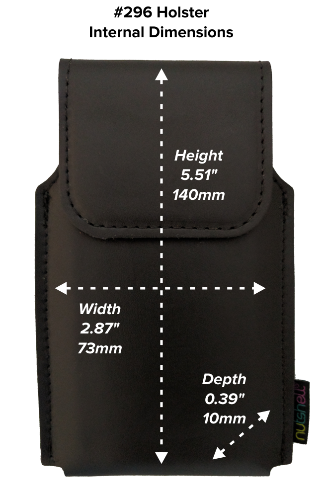 Regular Hip Holster (296) Dimensions