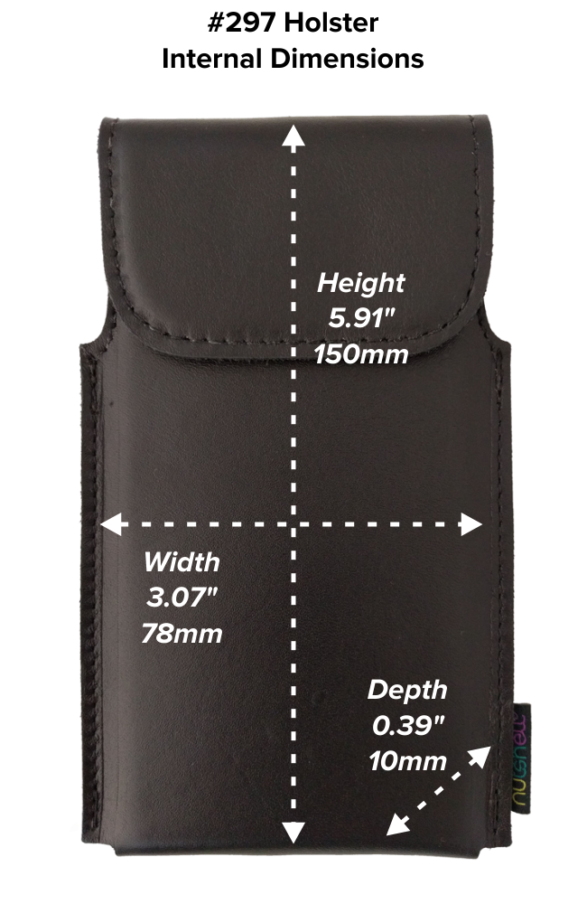 Regular Hip Holster (297) Dimensions