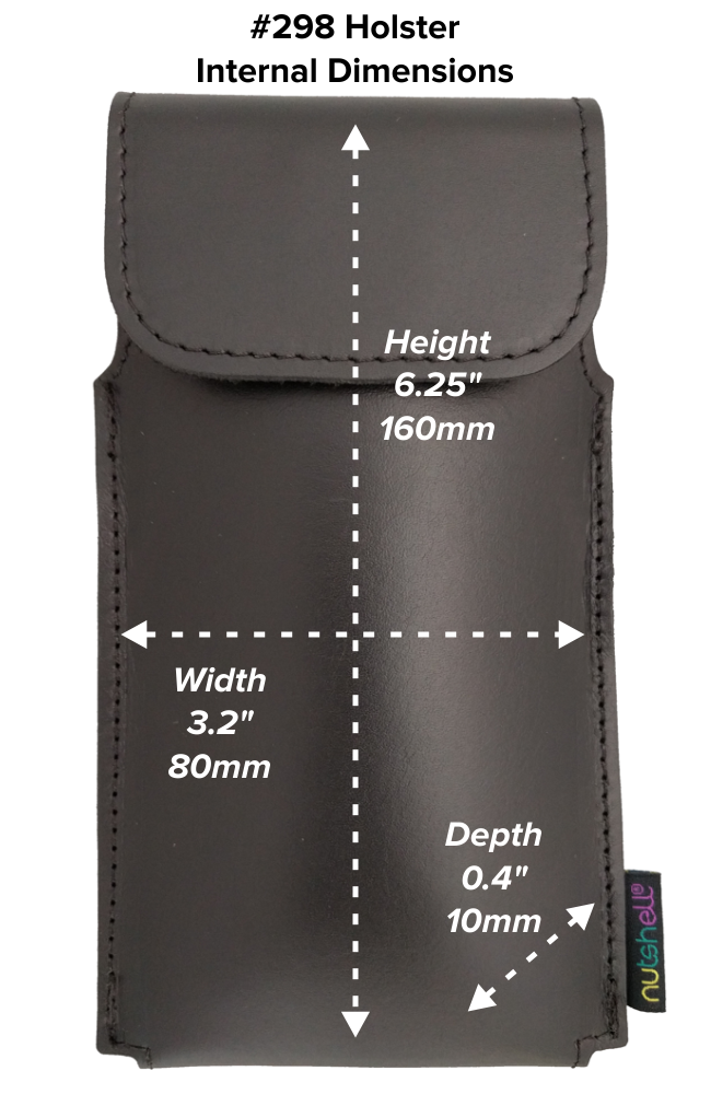 Tall Hip Holster (298) Dimensions