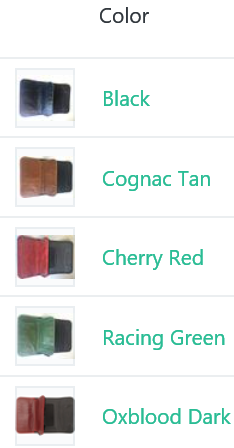colors of the shielded wallet