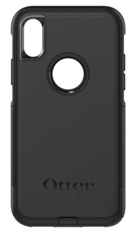 Apple iPhone X in Otterbox Commuter Smartphone Holster - Nutshell