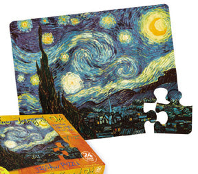 Masterpiece Puzzle: Starry Night Puzzle for Young Children - Van Gogh