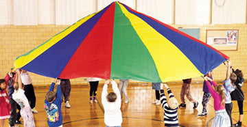 Parachute with Handles, 19' Dia for 16 Children