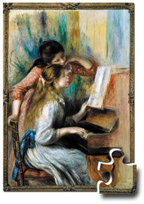 Masterpiece Puzzle for Young Children: Girls at the Piano by Auguste Renoir