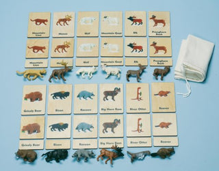 Continent 3-Part Wood Tiles & Replicas: North American Animals Item# C10229K