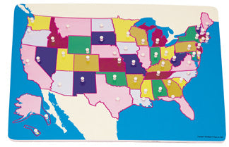 Map: United States Knobbed Puzzle