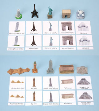 Around the World Landmarks Replicas Set 1 & Laminated 3-Part Cards