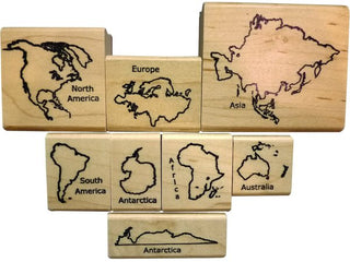 Continents: Deluxe Continent Stamp Set