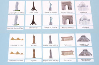 Around the World Landmarks Set 1 Laminated 3-Part Cards Only