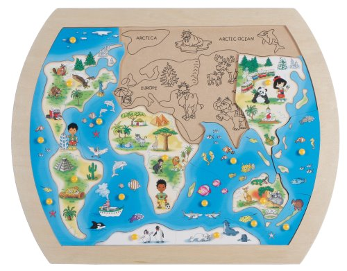 Continents: One World Wood Continent Puzzle