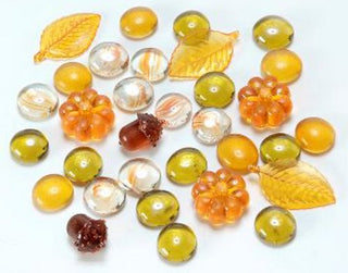 Autumn Sorting and Counting Glass & Acrylic Gems