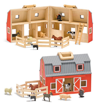 Foldable Wooden Farm Set